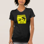 Caution Girls at play T-shirts