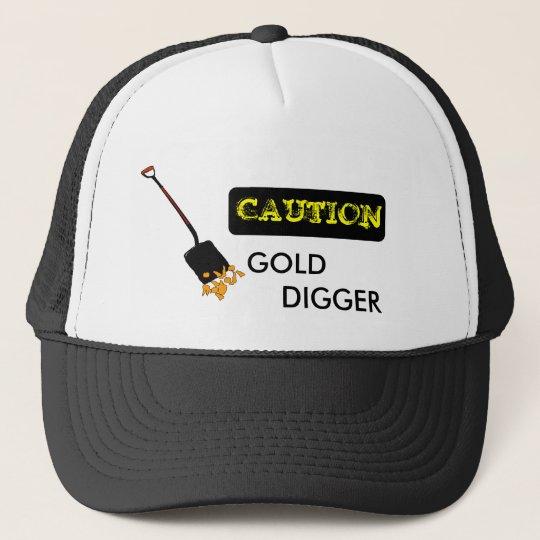 Caution GOLD DIGGER Funny Ball Cap