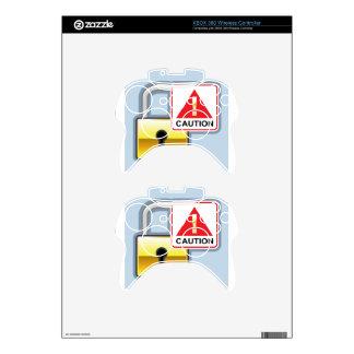 Caution Golden Lock vector Icon Xbox 360 Controller Skin