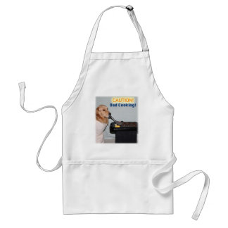 Caution Golden Retriever Dad Cooking Adult Apron