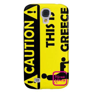 CAUTION - GREECE SAMSUNG GALAXY S4 CASE