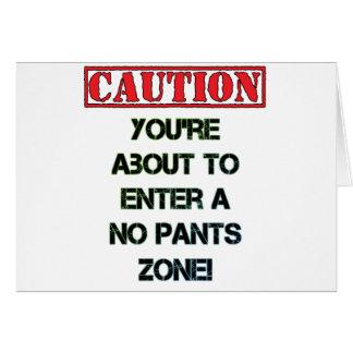 Caution! Greeting Card