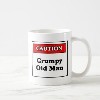 Caution Grumpy Old Man Coffee Mugs