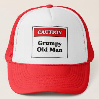 Caution Grumpy Old Man Trucker Hat