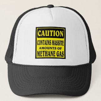Caution hat. trucker hat