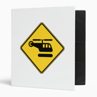 Caution Helicopter Sign Binder