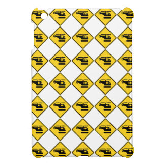Caution Helicopter Sign iPad Mini Cover