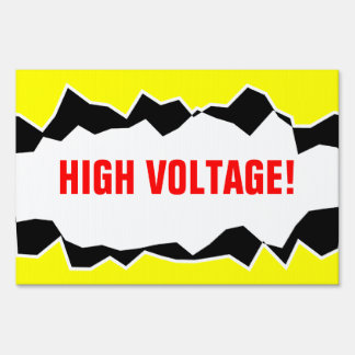 Caution High Voltage Sign or custom warning text