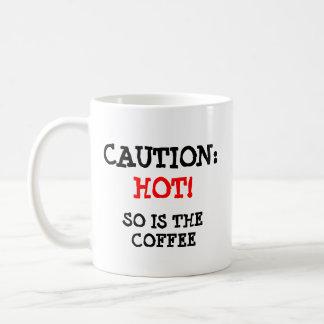 Caution: Hot Cat and coffee Coffee Mug