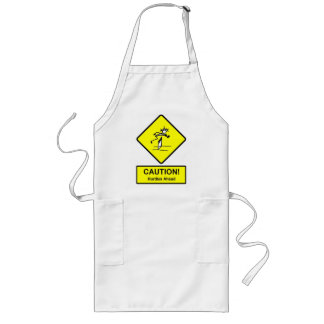 Caution Hurdles Ahead road sign Track and Field Apron