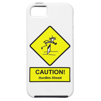 Caution Hurdles Ahead road sign Track and Field iPhone SE/5/5s Case