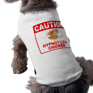 Caution Hypnotized Chicken (Red) T-Shirt