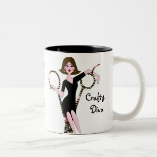 CAUTION: I Got Scissors & I Know How to Use Them! Two-Tone Coffee Mug
