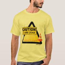 Caution illness flaring unisex t-shirt
