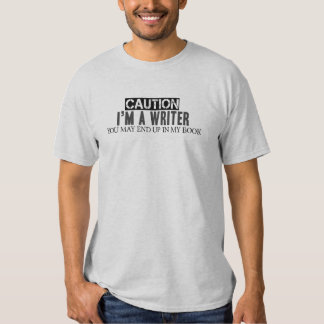 Caution I'm a Writer Men's Basic T-shirt