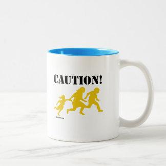 Caution Immigration Two-Tone Coffee Mug