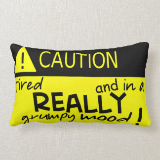 Caution in a Really Grumpy Mood! Pillow