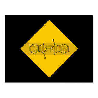 Caution: Indigo Postcard