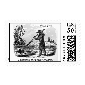 Caution is the Parent of Safety Postage Stamps