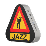 Caution Jazz Music Played Here Musician Sax Player Bluetooth Speaker