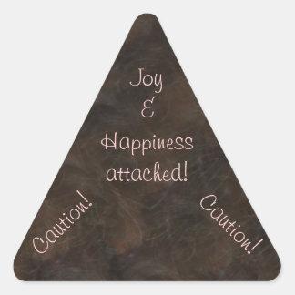 Caution  Joy & Happiness Attached Sticker