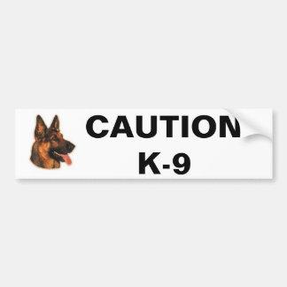 CAUTION K-9 BUMPER STICKER