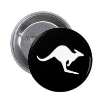 Caution Kangaroo Button