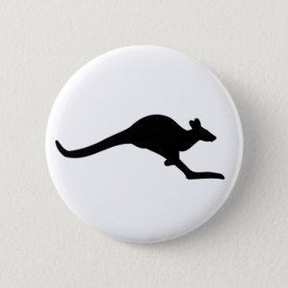 Caution Kangaroo Button