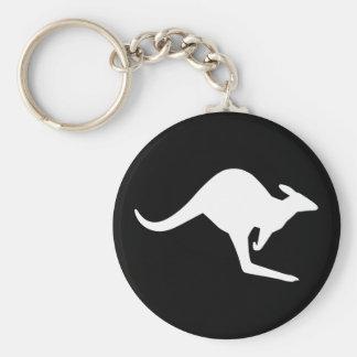 Caution Kangaroo Keychain