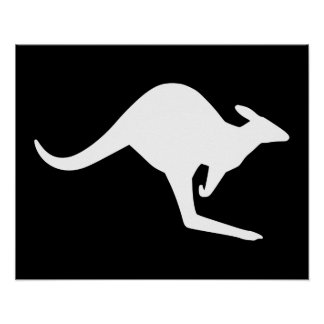 Caution Kangaroo Poster