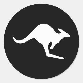 Caution Kangaroo Stickers