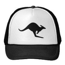 Caution Kangaroo Trucker Hat