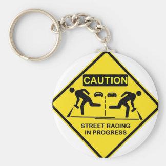 Caution Key Chain