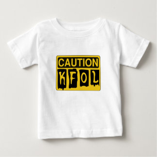 CAUTION KFOL by Customise My Minifig Baby T-Shirt