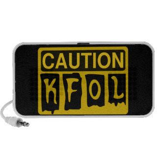 CAUTION KFOL by Customise My Minifig Mp3 Speaker