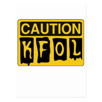 CAUTION KFOL by Customise My Minifig Postcard