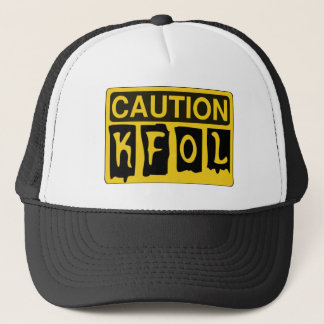 CAUTION KFOL by Customise My Minifig Trucker Hat