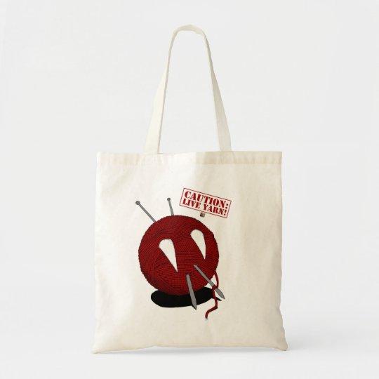 Caution: Live Yarn! Fang Bag