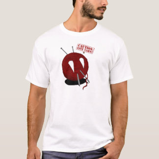 Caution: Live Yarn! Fangs T-Shirt