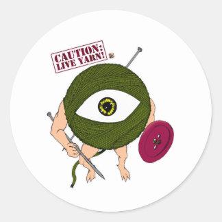 Caution: Live Yarn! Infantry Classic Round Sticker