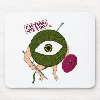 Caution: Live Yarn! Infantry Mouse Pad