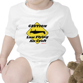 Caution Low Flying Air Craft T Shirts