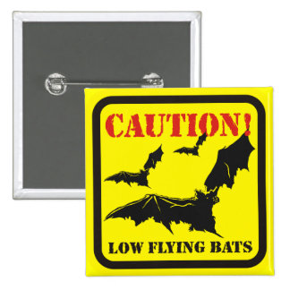 Caution ! Low Flying Bats Pin