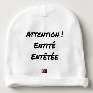 CAUTION! MADE DIZZY ENTITY - Word games Baby Beanie