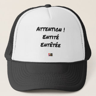 CAUTION! MADE DIZZY ENTITY - Word games Trucker Hat