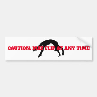 """CAUTION: MAY FLIP AT ANY TIME"" sticker"