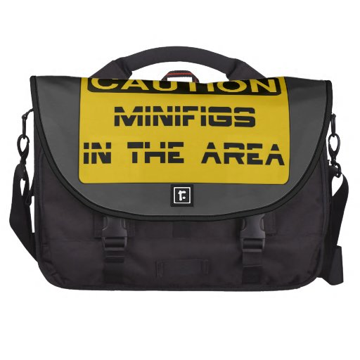 CAUTION MINIFIGS IN THE AREA by Chillee Wilson Commuter Bags