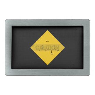 Caution: Monosodium Glutamate Belt Buckle