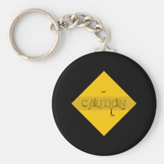 Caution: Monosodium Glutamate Keychain