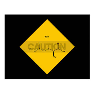 Caution: Monosodium Glutamate Postcard
